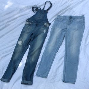 2 pairs Justice girls jeans